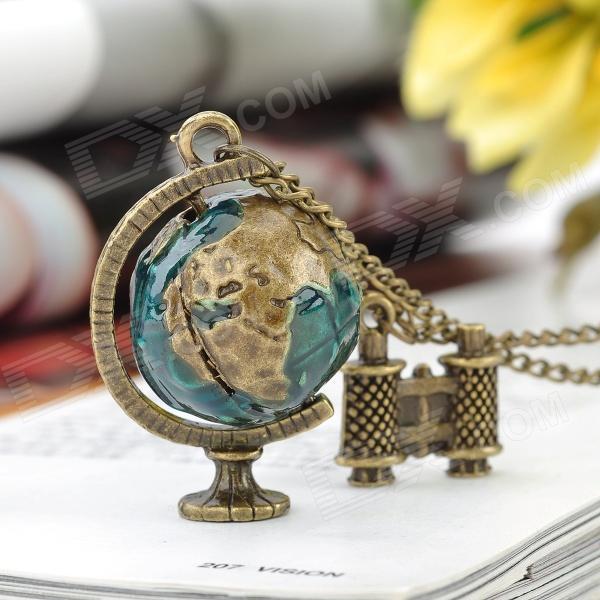 dünya küre kolye
